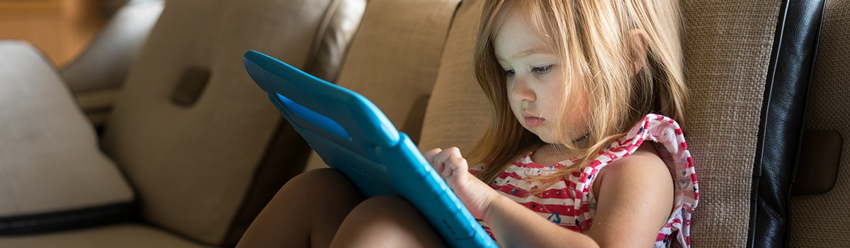 Child using tablet